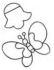 Butterfly Basic Shapes Toddler Beginner Coloring Book Page