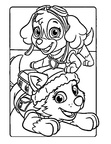 Paw Patrol Everest Coloring Book Page