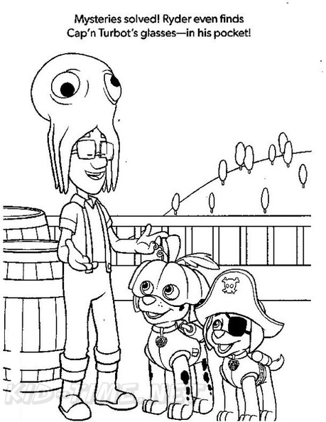 Paw Patrol Halloween Coloring Book Page Free Coloring Book
