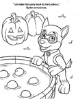 Paw Patrol Halloween Coloring Book Page