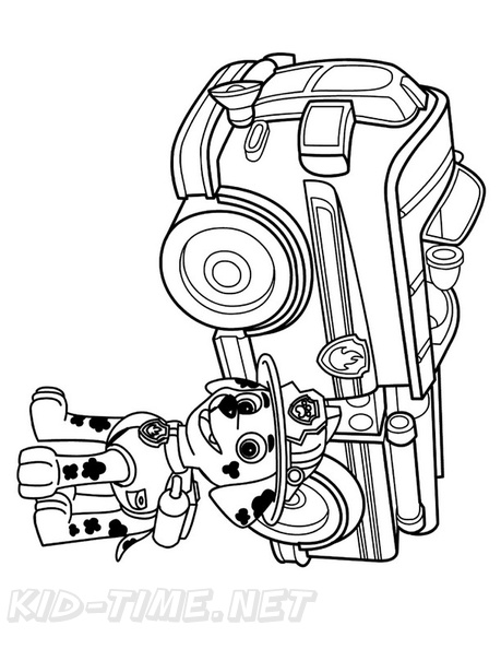 Marshall Paw Patrol Coloring Book Page Free Coloring Book Pages