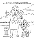 Mayor Goodway Paw Patrol Coloring Book Page