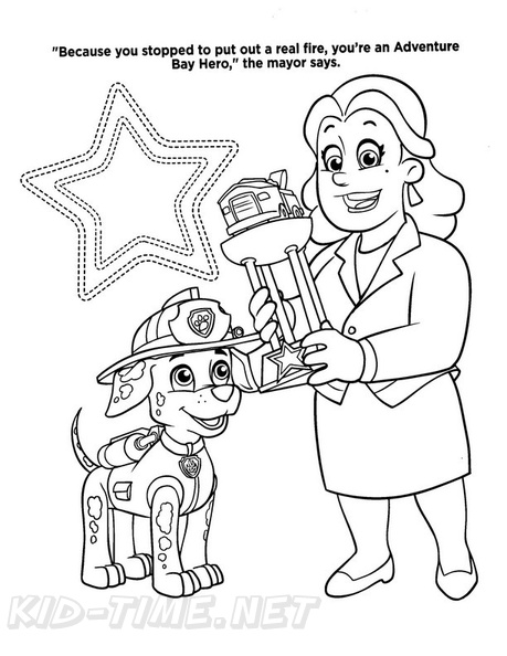 Paw Patrol Coloring Pages Mayor Goodway
