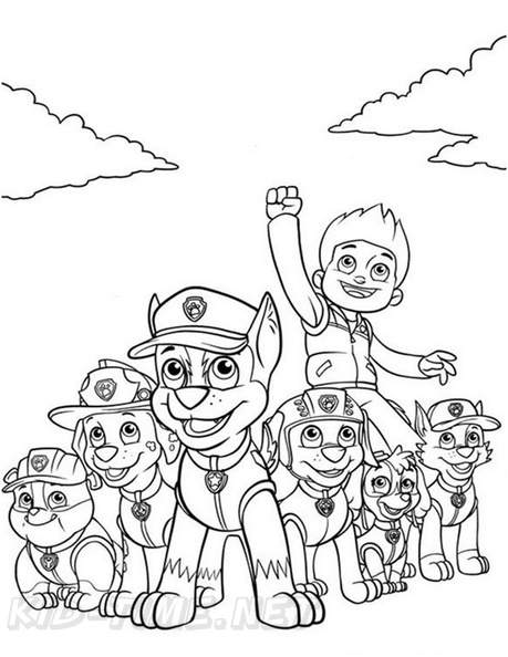Paw Patrol Coloring Book Page Free Coloring Book Pages Printables