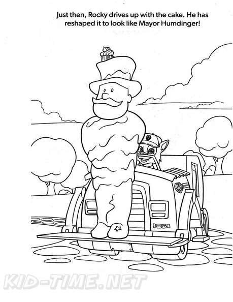 Rocky Paw Patrol Coloring Book Page Free Coloring Book
