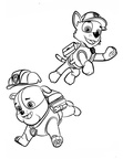 Rubble Paw Patrol Coloring Book Page