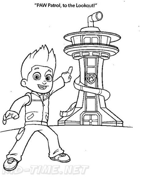 Ryder Paw Patrol Coloring Book Page Free Coloring Book Pages Printables