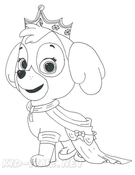Skye Paw Patrol Coloring Book Page Free Coloring Book Pages Printables