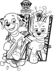 Super Pups Dogs Paw Patrol Coloring Book Page