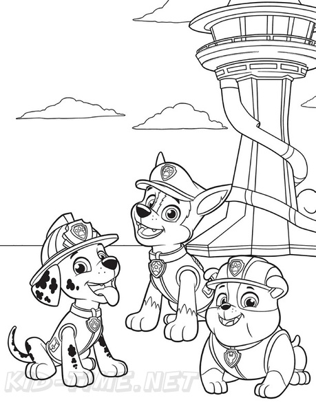 Paw Patrop Free Colouring Pages