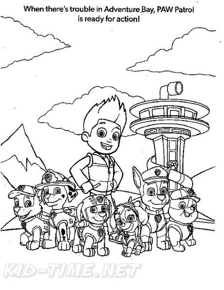 Paw Patrol Lookout Tower Coloring Page Coloring Pages