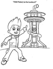 Paw Patrol Lookout Tower Coloring Book Page