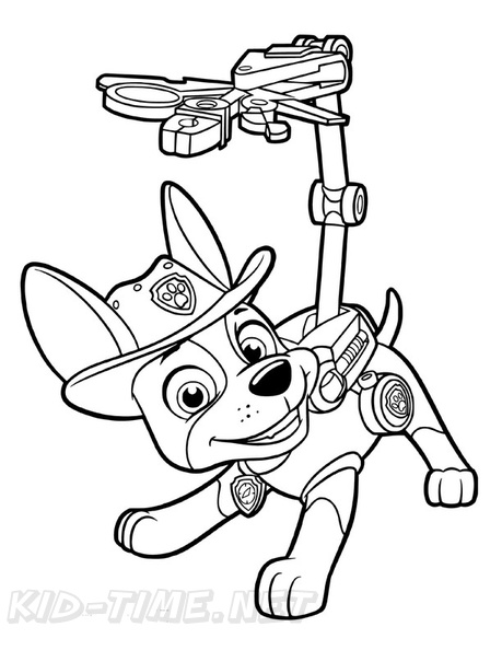 Tracker Paw Patrol Coloring Book Page Free Coloring Book Pages
