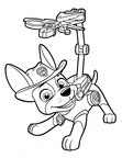 Tracker Paw Patrol Coloring Book Page