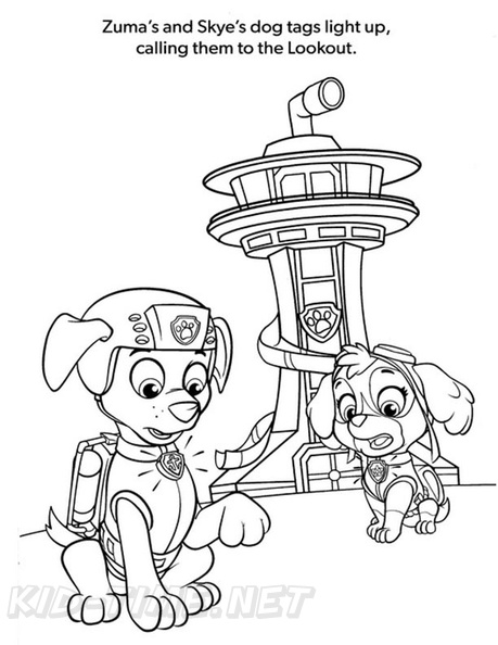 Zuma Paw Patrol Coloring Book Page Free Coloring Book Pages Printables