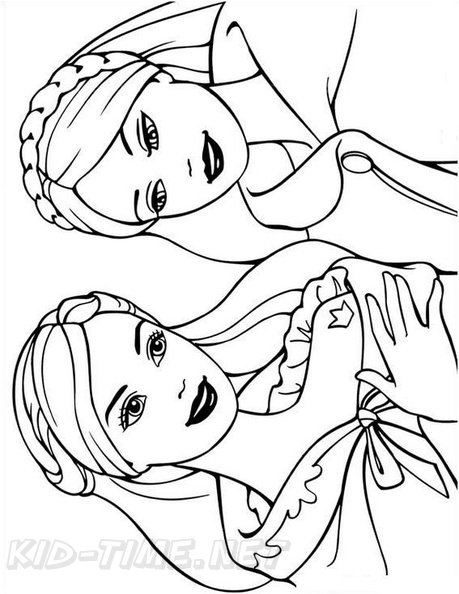 Princess Barbie Coloring Book Page Free Coloring Book Pages Printables