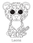 Leona Leopard Beanie Boo Coloring Book Page