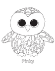 Pinky Owl Beanie Boo Coloring Book Page