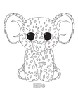 Ellie Elephant Beanie Boo Coloring Book Page