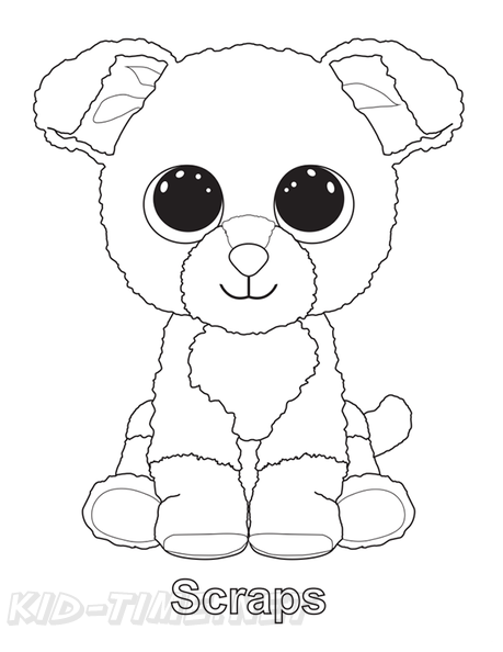 - Scraps Dog Beanie Boo Coloring Book Page Free Coloring Book Pages  Printables