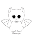 Swoops Bat Beanie Boo Coloring Book Page