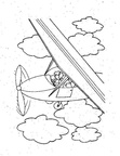 Airplane Coloring Book Page