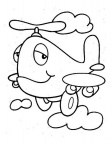 Helicopter Coloring Book Page
