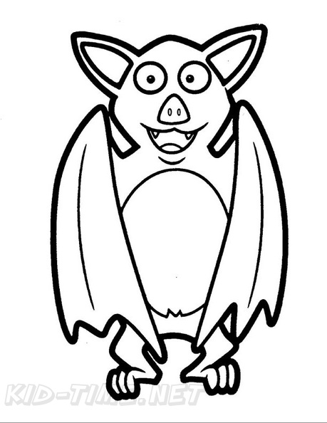 Bat Coloring Book Page Free Coloring Book Pages Printables
