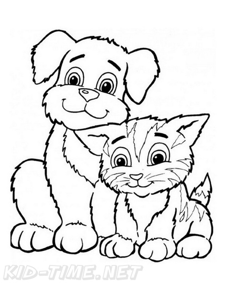 Kitten Coloring Book Page Free Coloring Book Pages Printables